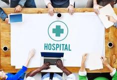 Begrepp för omsorg för medicin för vård- institution för sjukhusklinik royaltyfri fotografi