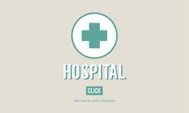 Begrepp för omsorg för medicin för vård- institution för sjukhusklinik Arkivfoton