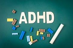 Begrepp för oordning för hyperactivity för underskott för ADHD-—uppmärksamhet arkivbilder
