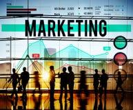 Begrepp för organisation för affär för strategi för marknadsföringsplanläggning arkivfoto