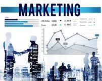 Begrepp för organisation för affär för strategi för marknadsföringsplanläggning arkivbilder