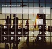 Begrepp för organisation för schema för kalendertidsbeställningsdagordning Royaltyfri Fotografi