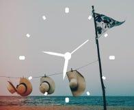 Begrepp för organisation för tajming för klocka för Tid ledning punktligt fotografering för bildbyråer