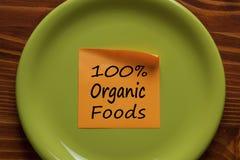 Begrepp för organiska Foods Royaltyfri Fotografi