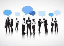 Begrepp för partnerskap för diskussion för kommunikationer för affärsfolk royaltyfri illustrationer