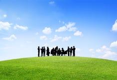 Begrepp för partnerskap för ockupation för affärssamarbetskollega arkivfoton