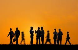 Begrepp för partnerskap för ockupation för affärssamarbetskollega arkivfoto