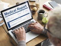 Begrepp för patient för historia för form för rekord för medicinsk rapport Royaltyfri Fotografi