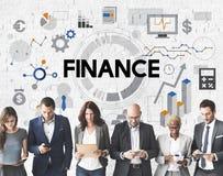 Begrepp för pengar för ekonomi för finansredovisningsbankrörelsen fotografering för bildbyråer