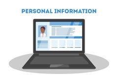 Begrepp för personlig information royaltyfri illustrationer