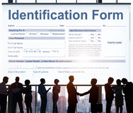 Begrepp för personlighet för egenart för IDformnamn arkivbild