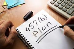 begrepp för plan 457b Arkivfoton