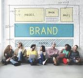 Begrepp för plan UI för Website för märkesvarumärkesmarknadsföring Royaltyfri Fotografi