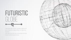 begrepp för planet 3d abstrakt bakgrundsteknologi Abstrakt polygonal utrymmebakgrund Abstrakt sfärform Vektor abstrakta Gri Fotografering för Bildbyråer