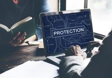 Begrepp för politik för avskildhet för skyddsbevakningsäkerhet royaltyfri foto