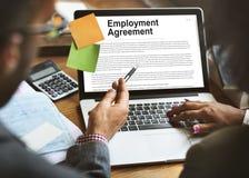 Begrepp för politik för form för anställningöverenskommelse fotografering för bildbyråer