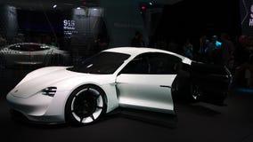 Begrepp för Porsche beskickning E på IAA-bilarna Arkivbilder