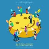 Begrepp för pratstundmessagingkommunikation Arkivfoton