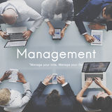 Begrepp för process för strategi för ledningorganisationsaffär arkivfoton