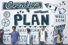 Begrepp för process för taktik för strategi för planplanläggningsvision fotografering för bildbyråer