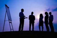 Begrepp för professionell för rådgivning för affärsmöte Arkivfoton