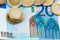 Begrepp för räkning för euro tjugo finansiellt Royaltyfria Foton