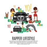 Begrepp för rapmusik Arkivfoton