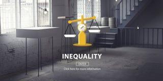 Begrepp för rasism för obalans för ojämlikhetskillnadmångfald vektor illustrationer