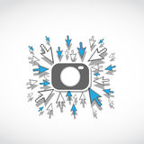 Begrepp för rea för Digital fotokamera Arkivbild