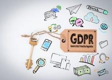 Begrepp för reglering för skydd för allmänna data för GDPR royaltyfria foton