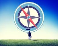 Begrepp för resa för handbok för utforskning för navigeringkompassriktning vektor illustrationer