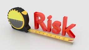 Begrepp för riskmätning med bandet som isoleras på vit royaltyfri illustrationer