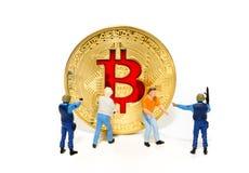 Begrepp för säkerhet för crytocurrencies för Digital valutablockchain arkivbild