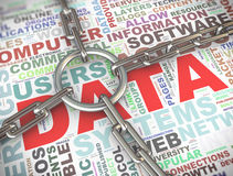 begrepp för säkerhet för data 3d Royaltyfri Bild