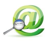Begrepp för sökande för internetwebbläsare Royaltyfria Bilder