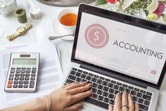 Begrepp för sökande för text för Webpage för shoppingbankrörelseredovisning Arkivfoton