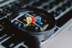 Begrepp för sökandemotoroptimization Arkivbild