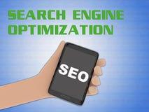 Begrepp för sökandemotoroptimization vektor illustrationer