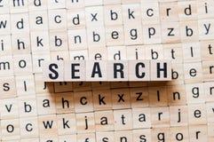 Begrepp för sökandeord arkivbild