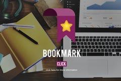 Begrepp för samkväm för rengöringsduk för Homepage för bokmärkedata favorit- royaltyfri fotografi