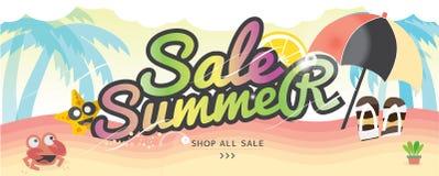 Begrepp för semester för sommar för baner för sommarferie vektor illustrationer