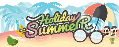 Begrepp för semester för sommar för baner för sommarferie stock illustrationer