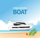 Begrepp för semester för sommarferie, illustration vektor illustrationer