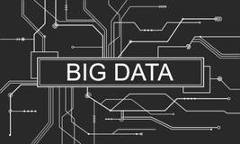 Begrepp för server för stort nätverk för datalagring online- Royaltyfri Bild