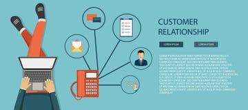 Begrepp för service för omsorg för affärskund Symbolsuppsättningen av kontakten oss, service, hjälp, påringningen och websiten kl royaltyfri illustrationer