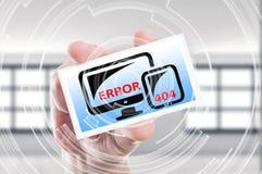 Begrepp för sida för fel 404 funnit inte Arkivfoton