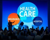 Begrepp för sjukhus för fysisk kondition för sjukvårdövning royaltyfria bilder