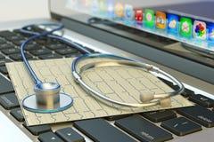 Begrepp för sjukvård, för medicin, för läkarundersökning och för diagnostiskt prov vektor illustrationer