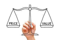 Begrepp för skala för prisvärdejämvikt arkivfoton