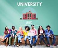Begrepp för skola för universitetsområdeutbildningskunskap royaltyfri bild